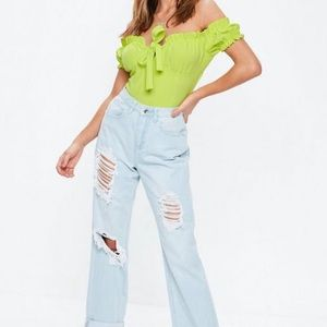 Missguided neon lime bodysuit